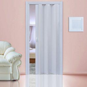 Белый глянец. Дверь гармошка пластиковая