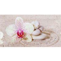 Белая орхидея. Фартук пластиковый. 3 метра