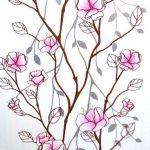 Сакура розовая 205-1