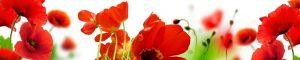 """Фартук ГЛЯНЦЕВЫЙ кухонный пластиковый 3 метра """"Цветы 12358"""""""