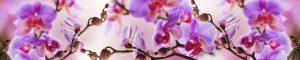 """Фартук ГЛЯНЦЕВЫЙ кухонный пластиковый 3 метра """"Цветы 2248"""""""