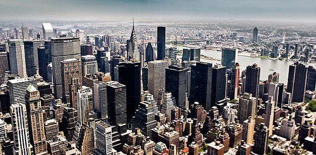 Фотопанно Большой город, размер 300x147 (081)