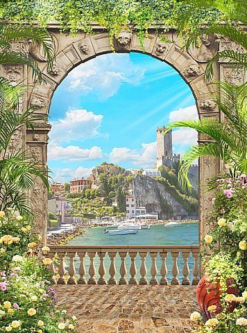 Фотопанно Вид на гавань, размер 200x270 (052)