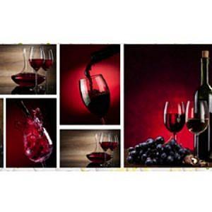 """Фартук ЛАК кухонный пластиковый 3 метра """"Вино 422"""""""