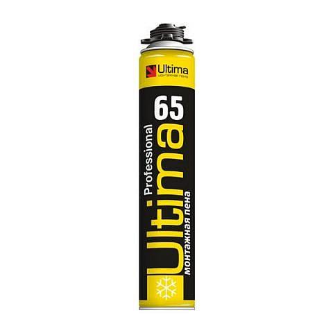 Ultima pro 65 ЗИМА, пена монтажная профессиональная, 850 мл