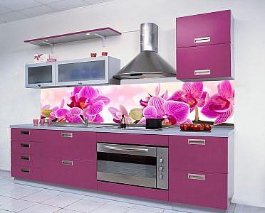 198 Цветы. Фартук для кухни в интерьере
