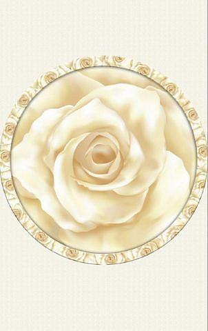 Роза чайная. Потолочное панно ПВХ