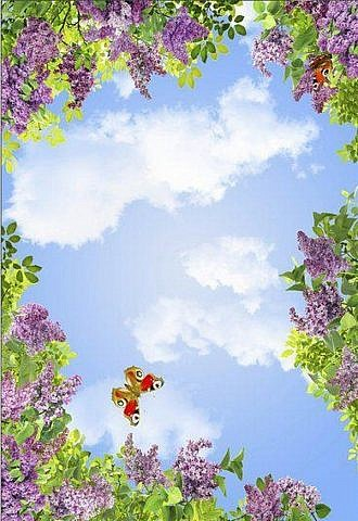 Весеннее небо. Потолочное панно ПВХ