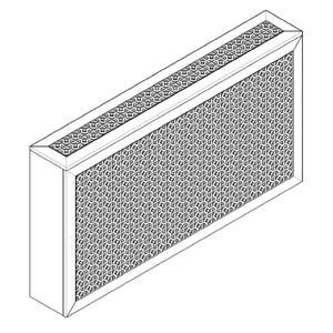 Экран перфорированный в коробе для радиаторов отопления.