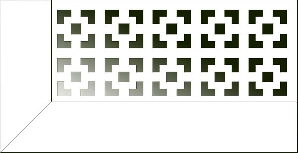 """Виктория Арктик"" Экран для радиаторов  (1280х680мм)"