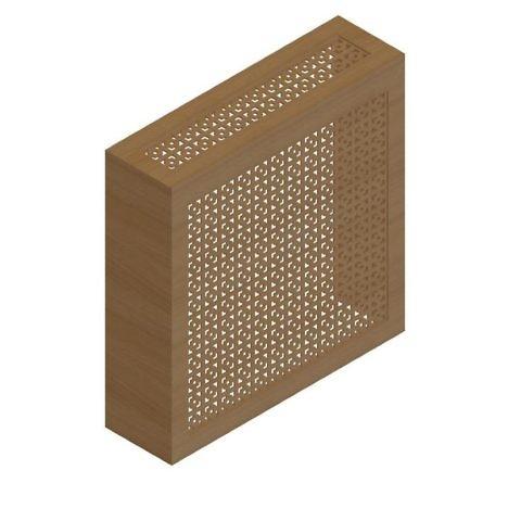Экран с коробом для радиаторов 680х680 мм. ХДФ. Перфорированный. Виктория Бук