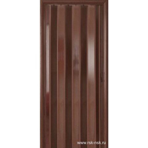 Венге Комфорт. Дверь гармошка раздвижная без стекла