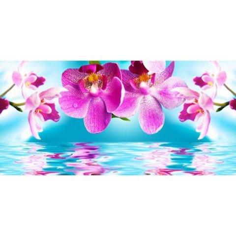 Фартук кухонный пластиковый 3 метра Орхидеи 622 (Фотопечать) ПП