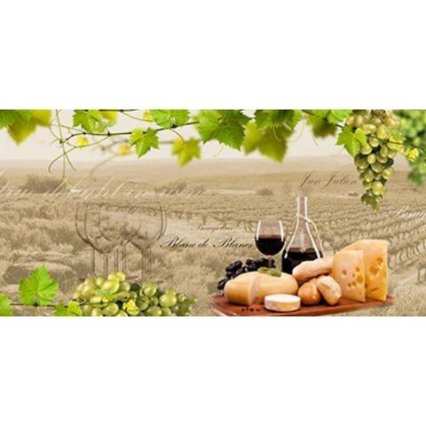 Фартук кухонный пластиковый 3 метра Виноград и вино 721 (Фотопечать) ПП