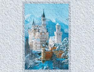 Замок короля зимний панно- приближение части декора
