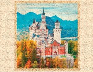 Замок короля осенний панно- приближение части декора