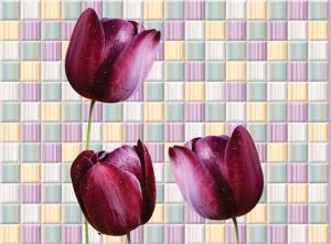 Магические тюльпаны- приближение части декора