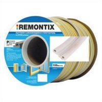 Уплотнитель P-профиль. Remontix бытовой самоклеящийся 9х5,5 мм. Бобина 50х2 м. Цвет: Белый