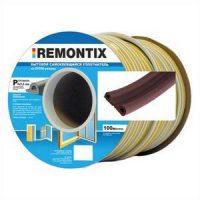 Уплотнитель P-профиль. Remontix бытовой самоклеящийся 9х5,5 мм. Бобина 50х2 м. Цвет: Коричневый