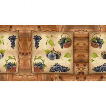 Темный виноград. Фартук для кухни. 3 метра
