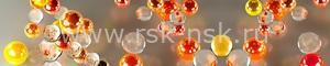 Фартук для кухни Оранжевые пузырьки