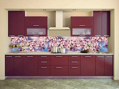 "Фартук ЛАК кухонный пластиковый 3 метра ""Цветы 18345"""