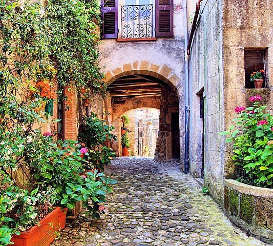 Фотопанно Улочка Тосканы, размер 300х270 (033)