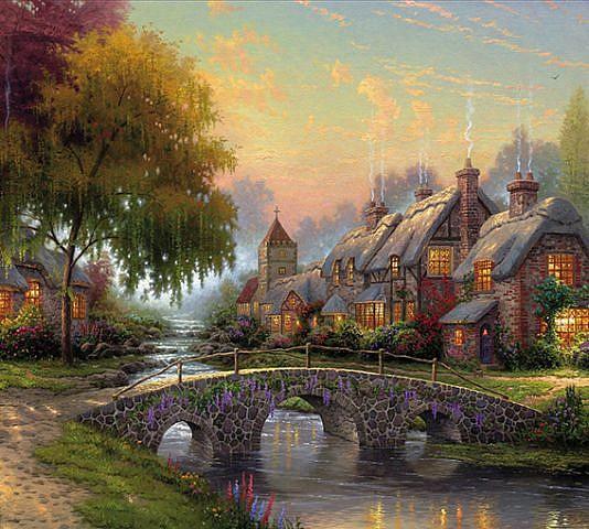 Фотопанно Волшебный пейзаж, размер 300x270 (027)
