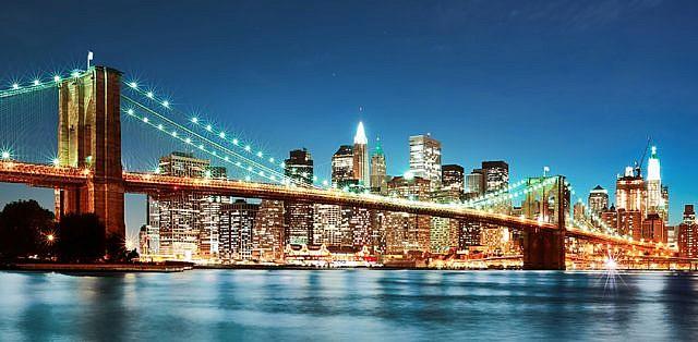 Фотопанно Бруклинский мост, размер 300x147 (064)