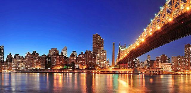 Фотопанно Огни ночного города, размер 300x147 (065)