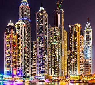 Фотопанно Дубай ночь, размер 300x270 (049)