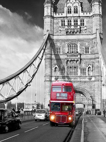 Фотопанно Автобус на мосту, размер 200x270 (250)