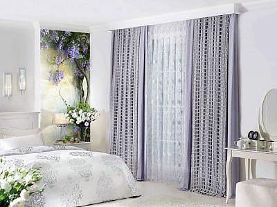 Фотопанно Цветы на стене, размер 100×270 (292)