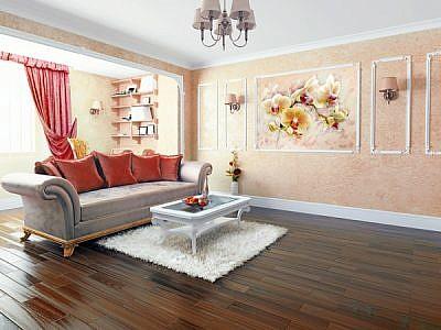 Фотопанно Орхидея живопись, размер 200×147 (300)