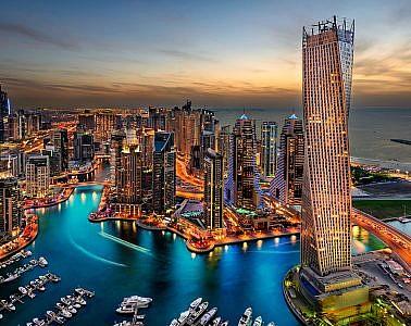 Фотопанно Дубай рассвет, размер 300×238 (359)