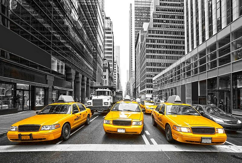 Фотопанно Такси, размер 400×270 (024)