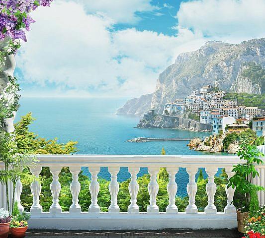 Фотопанно Балкон, размер 300x270 (050)