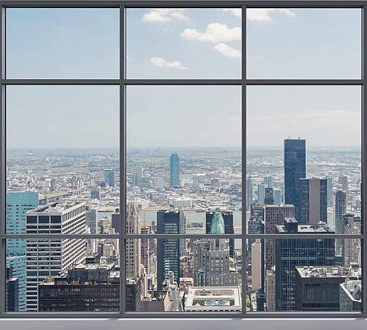 Фотопанно Вид на мегаполис, размер 300x270 (053)