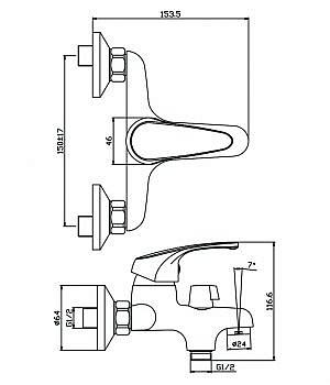 Артикул: 02211AV Керамический картридж SILENT OLIVE'S 35 мм Подвижный пластиковый аэратор ECO OLIVE'S Шланг Double Lock 1,5 м Держатель лейки (2 положения)  Душевая лейка Touch Clean (1 режим).  Комплект крепления