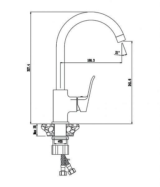 Смеситель для кухни Plaza 16430PL