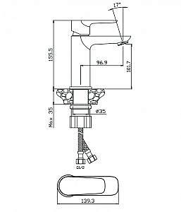 Смеситель для раковины BARROS 22100BR