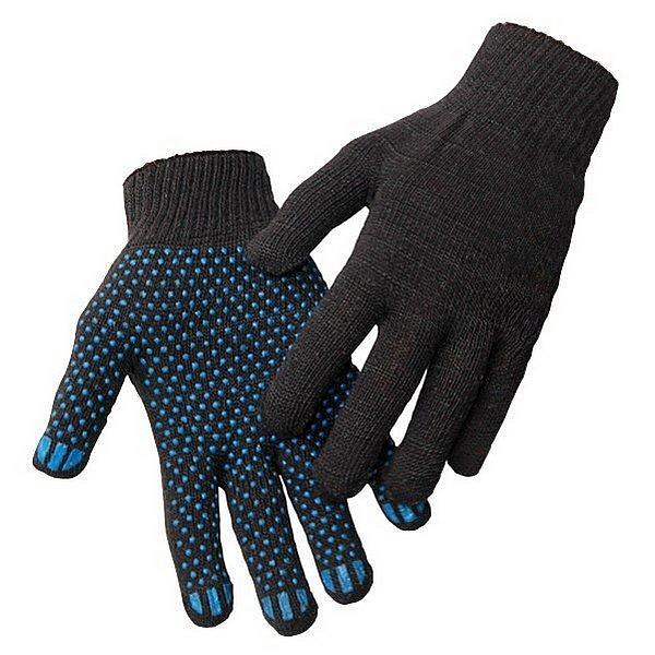 Перчатки трикотажные 10 кл 4х нитка ПВХ Точка, черный