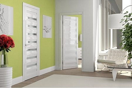 Белые глянцевые двери
