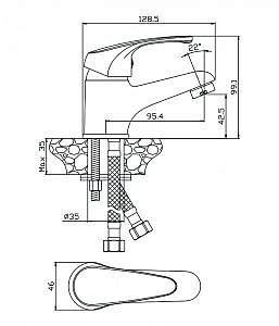 Смеситель для раковины Avila 02100AV