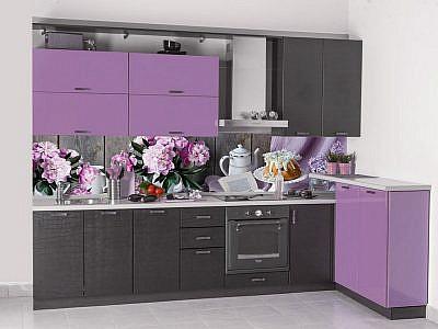 050159 Цветы. Фартук для кухни пластиковый