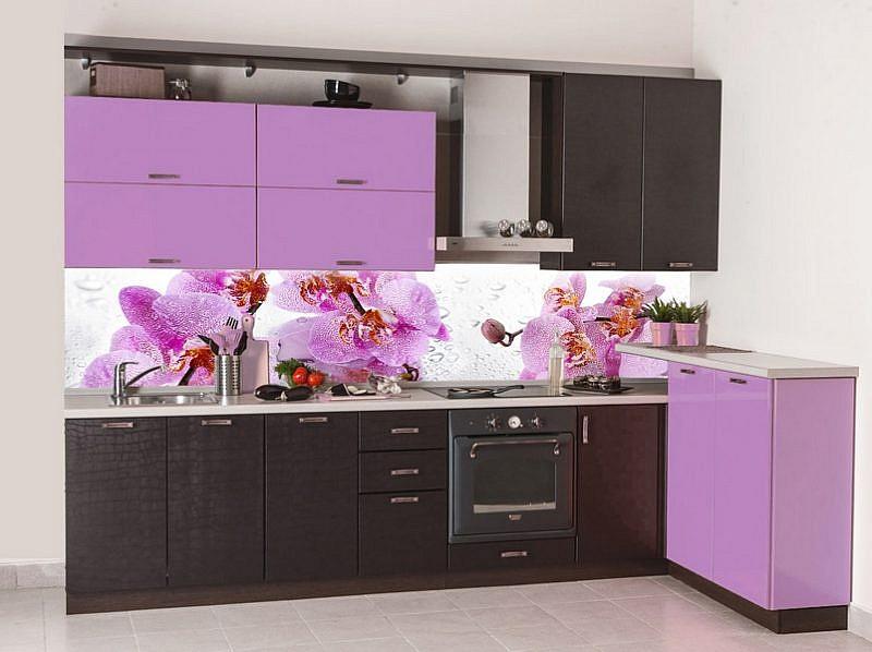 050231 Цветы. Фартук кухонный пластиковый
