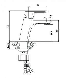 Смеситель для раковины Plaza 16100PL