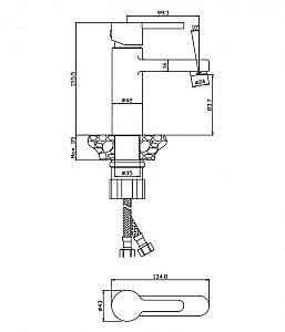 Смеситель для раковины Torres 17100TR