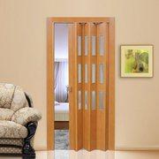 Двери-гармошки ПВХ со вставками