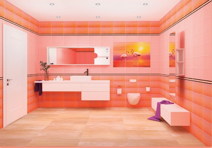 Фламинго в интерьере